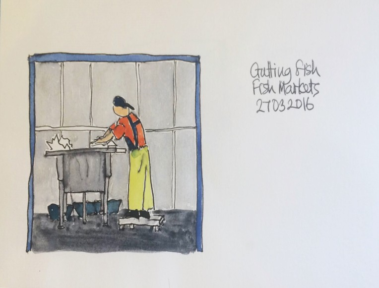 sketch 20160328 Gutting Fish